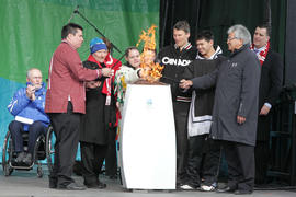 Day 1 Lighting of the Paralympic cauldron in Ottawa, Ont.