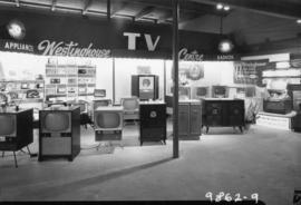 Westinghouse display of televisions and radios