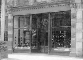[Exterior of J.A. Pykes shoe store at 518 West Hastings Street]