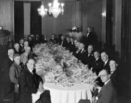 Hodgson, King and Marble dinner to city officials at Georgia Hotel