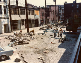 Blood Alley and Trounce Alley during construction