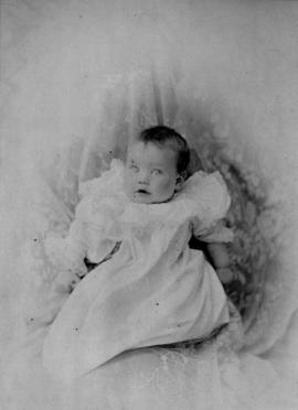 [Unidentified studio portrait of a baby]