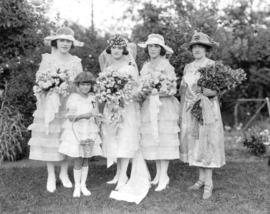 [Women modelling wedding dresses]
