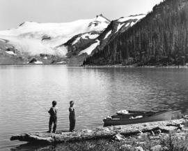 [Boys fishing in Garibaldi Lake]