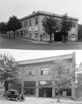 [Oldsmobile Motor Cars and Trucks (top) and Consolidated Motors Ltd. (bottom), Georgia Street]