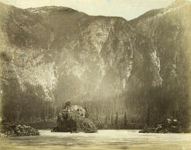 Lady Franklin Rock [in the Fraser River near Yale]