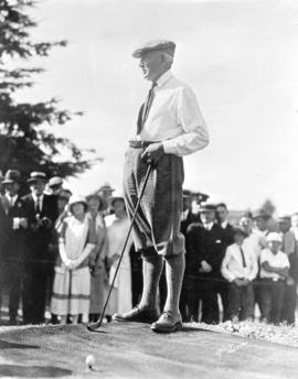 [President Harding on Shaughnessy Golf Links]