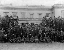 Australian government officials and dignitaries with Canadian Cadets during 1912 tour of Australi...