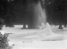 Frozen fountain in Stanley Park