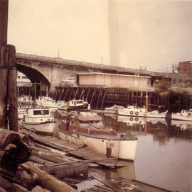 Karl Koenig and boats under the Georgia Street Viaduct