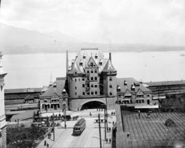 C.P.R. depot [at the foot of Granville Street]