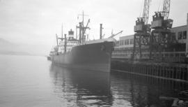 "S.S. Laurentia [at dock, at Pier ""B""]"