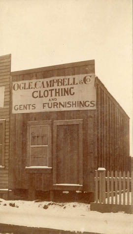 [Exterior of Ogle, Campbell and Co. Clothing and Gents Furnishings - Cordova Street]