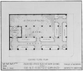 Proposed office bldg. & show rooms for the B.C. Electric Rlwy Co. Ltd. : ground floor plan
