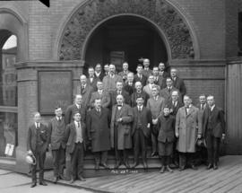Vancouver Stock Exchange [group photo on the front steps at 326 Homer Street]