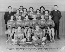 [Postcard of] Richmond Buddies Girls' Lacrosse Club