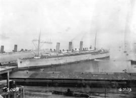 "[R.M.S. Empress of Russia docked at Pier ""A - B""]"