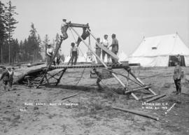 Sling bridge built in 7 min. 20 sec. - 5th Field Company C.E.