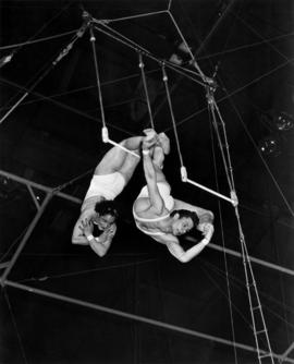 Les Gerlados : [trapeze artists performing in circus act]