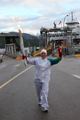 Day 098, torchbearer no. 012, Valerie O - Earls Cove