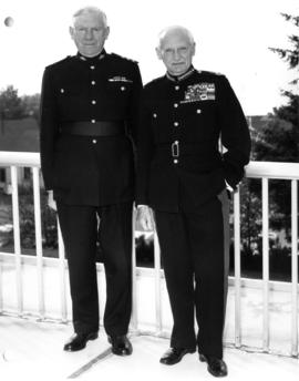 U.B.C. President  Mackenzie and Field Marshal Montgomery in uniform