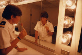 Celebration '90 : Gay Games III [Robin Tyler in dressing room]