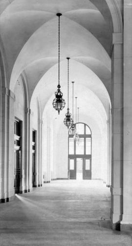 [An arched entrance hallway]