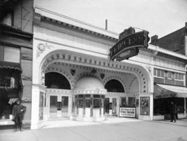 [Exterior of the Princess Theatre at 55 East Hastings Street]
