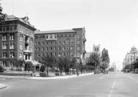 Burrard Street showing St. Paul's Hospital
