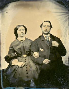 Esther McCleery and brother Fitzgerald McCleery