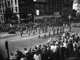 Marching band in 1952 P.N.E. Opening Day Parade