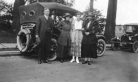 [Mr. and Mrs. Percy Gomery prior to their Montreal to Vancouver automobile trip]