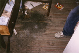Damaged floor of Columbia Hotel at 303 Columbia Street