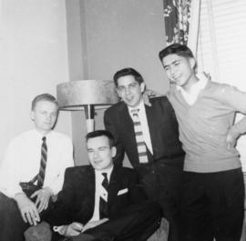Sandy Teslyk [right with group of unidentified men]