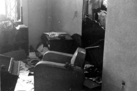 Riot damage, hotel interior