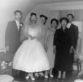 Ella Wong, Harry Louie and wedding guests