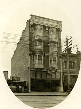 "The Windsor Hotel, Granville St., with proprietor W.H. ""Billy"" Allen"