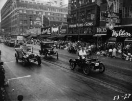 Antique cars in 1953 P.N.E. Opening Day Parade