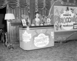 [Ticket booth for Christmas sales in the lobby of the Strand Theatre]