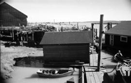 [View of docks and fishing nets]