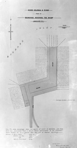Evans Coleman and Evans. Plan of sandings adjoining the wharf. Vancouver, B.C.