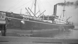 "[S.S. ""Shidzuoka Maru"" at dock]"