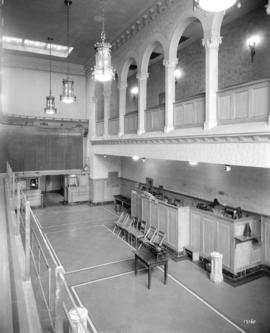 [Photograph of the interior of the Vancouver Stock Exchange building, 475 Howe St., Vancouver B.C.]