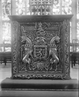 [A coat of arms at Marischal College]