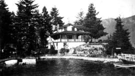 View of a house by the water