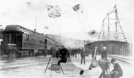 [Arrival of first C.P.R. train at Port Moody]