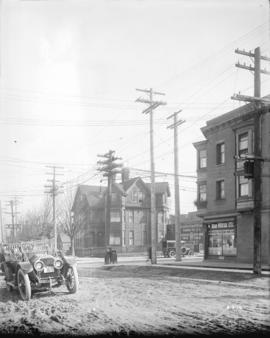 [View of northeast corner of Pender and Burrard Streets]