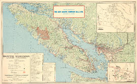 Map of south western British Columbia showing coastal lumber producers