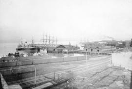 [Evans, Coleman and Evans dock at the foot of Columbia Avenue]