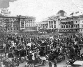 [View of opening ceremony and welcome to the Duke of Connaught in the Court House grounds]